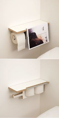 Muebles muy práctico porta papel higiénico, diseñado por Gilges a Florian.