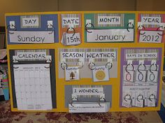 Blogging, Teaching and Second Grade... Oh My!: Morning meeting calendar and a freebie