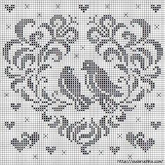 Brilliant Cross Stitch Embroidery Tips Ideas. Mesmerizing Cross Stitch Embroidery Tips Ideas. Cross Stitch Heart, Cross Stitch Borders, Cross Stitch Animals, Cross Stitch Designs, Cross Stitching, Cross Stitch Embroidery, Filet Crochet Charts, Crochet Stitches Patterns, Knitting Charts