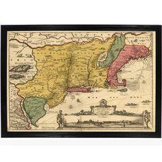New Amsterdam 1685 Map