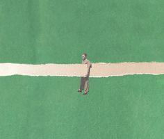Unhold - fitacola collage - handmade with vintage scraps - minimal Art Print Collage Design, Collage Art, Design Art, Cristiana Couceiro, Illustrations, Illustration Art, Photocollage, Grafik Design, Surreal Art