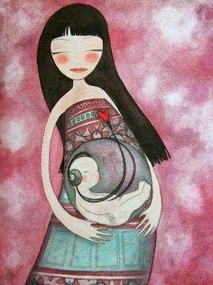 Usted no es madre   sólo porque engendró y parió.   Lo único que puede hacer   que usted se llame madre   es su capacidad de amor   ...