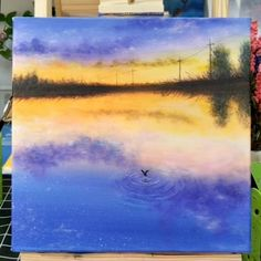 Painting Inspirations - Painting Tutorial Videos Part 22 Canvas Painting Tutorials, Painting Videos, Acrylic Painting Canvas, Watercolor Paintings, Galaxy Painting, Canvas Canvas, Knife Painting, Watercolor Artists, Painting Lessons