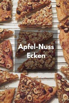 Leckere und gesunde Apfel-Nuss Ecken