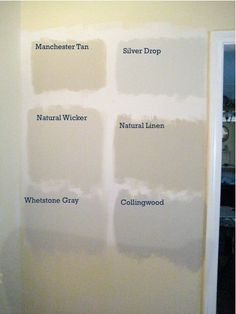 All found at Home Deopt. I like Whetstone Gray, Natural Wicker, and Silver Drop. Behr Paint Colors, Paint Color Schemes, Room Paint Colors, Colour Pallette, Interior Paint Colors, Paint Colors For Home, Wall Colors, House Colors, Interior Design