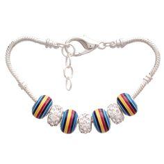 Bleek2Sheek 70's Rainbow Pandora-Style Charm Bracelet