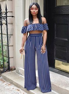 With the Together Forever two piece outfit high waist pants,you'll never have to worry about a mismatched outfit again! Move with confidence, with perceft pant suit, yup instant outfit becaus… Date Outfits, Classy Outfits, Chic Outfits, Trendy Outfits, Summer Outfits, Fashion Outfits, Suit Fashion, Black Women Fashion, Womens Fashion