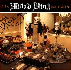 REAL PARTIES: Wicked Bling Halloween {Part 1 - Cocktail Party & Candy Bar} // Hostess with the Mostess®