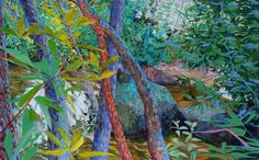 Stream near Harpers Creek by Elizabeth Bradford  Acrylic on Canvas