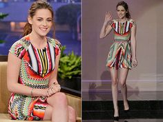 kristen stewart in Peter Pilotto dress and Christian Louboutin shoes