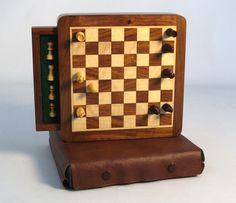 Wood Magnetic Chess with Drawer $44.99