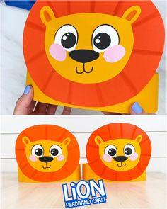 Jungle Crafts, Animal Crafts For Kids, Paper Crafts For Kids, Art For Kids, Halloween Crafts For Toddlers, Toddler Crafts, Kindergarten Crafts, Preschool Crafts, Lion Craft