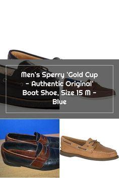 Men's Sperry 'Gold Cup - Authentic Original' Boat Shoe, Size 9.5 W - Blue Sperrys Men, Gold Cup, Boat Shoes, The Originals, Blue, Moccasins, Boat Shoe, Loafers