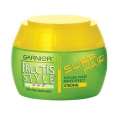 "Garnier Fructis Style Surf Hair Texture Paste""While the Garnier Fructis line of products sometimes gets a bad rap for their overly sweet fragrances and tacky feel, this product is definitely one of their drugstore standouts. Use on short, dry hair to achieve that beachy, textured separation, or blow-dry into longer damp hair to provide a moisturized, matte-finished look with great movability."" #refinery29 http://www.refinery29.com/cheap-drugstore-hair-products#slide-28"