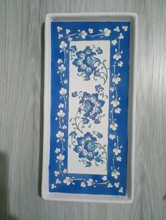 Pottery Handbuilding, Tray, Tattoos, Painting, Home Decor, Blue, Trays, Porcelain Ceramics, Pintura