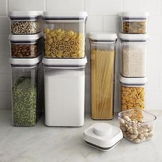 Oxo 10 Piece Pop Container Set In Top Kitchen Storage Crate And Barrel