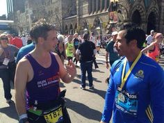 Danny and Joey after the Boston Marathon ♥♥♥♥ 4,21,2014