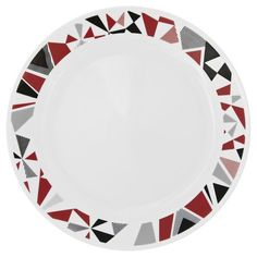 Corelle Livingware Mosaic Red Dinner Plate (set of for sale online West Elm, Corelle Plates, Red Dinner Plates, Appetizer Plates, Porcelain Mugs, Plate Design, Stoneware Mugs, Plates And Bowls, Dinnerware Sets