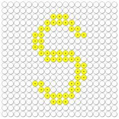 kralenplank: Letters / het alfabet: de S van Sinterklaas