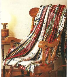 Tartan Plaid Afghan Crochet Pattern Throw Blanket Home Decor P-162 by PatternMania3 on Etsy