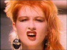 """Cyndi Lauper - Girls Just Wanna Have Fun    Loved being her in """"The Wedding Singer""""."""