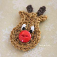 Crochet Reindeer Applique Pattern