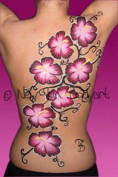 Full Body - New Skin Bodyart  flowers