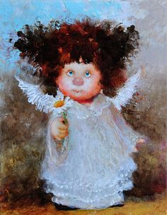 Discussion on LiveInternet - Russian Service Online diary Angels Among Us, Art Sites, Angel Art, Illustrations, Cute Illustration, Love Art, Oeuvre D'art, Painting & Drawing, Art For Kids