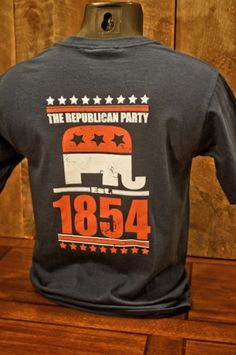 1854 Republican Party - Navy - Pocket T-Shirt. <3  <3 <3