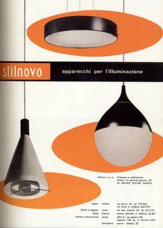"""Vintage STILNOVO ad from the Italian magazine """"Domus"""""""