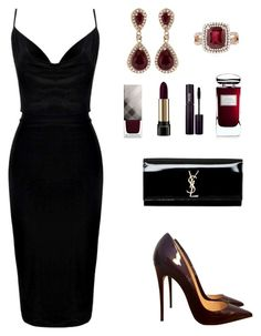 """№ 220"" by tigrpuh ❤ liked on Polyvore featuring Christian Louboutin, Yves Saint Laurent, Burberry, Lancôme, INIKA, By Terry and Effy Jewelry"