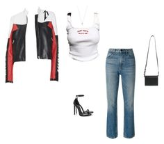 """""""headed to a photoshoot."""" by xo-gvbe ❤ liked on Polyvore featuring Alexander Wang, Yves Saint Laurent, Off-White and Tiffany & Co."""