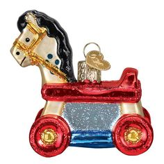 Find a Rolling Horse Toy Ornament or shop our entire collection of Old World Christmas ornaments for more selection. Our beautifully crafted ornaments make a great keepsake . Shop our large collection of high quality Christmas ornaments for all occasions. Baby's 1st Christmas Ornament, Personalized Christmas Ornaments, Xmas Ornaments, Hallmark Ornaments, Babies First Christmas, Christmas Baby, Christmas Teddy Bear, Ornament Hooks, Happy Kids