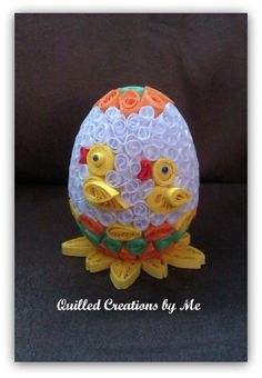 Quilled Easter egg made by Quilled Creations by Me