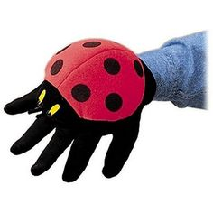 Puppets are great fun and can encourage children to use their imagination. This cute Ladybug hand puppet can be worn on either hand. Don't like ladybugs? Bee butterflies bumblebee grasshopper mouse and monkey glove puppets are also available. Glove Puppets, Hand Puppets, Toddler Preschool, Toddler Toys, San Antonio, Bird Puppet, Puppet Toys, Itsy Bitsy Spider, Puppet Patterns