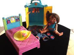 Dora the Explorer wardrobe bed doll lot
