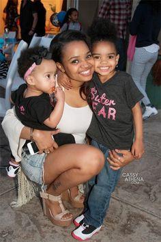Actress #KylaPratt and beautiful daughters!