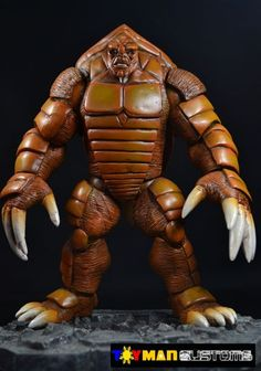 this is a marvel legends Armadillo Custom Figure Custom Action Figure he was made by figure realmer toymancustoms he used the fan choice winner twin pack hulk body the rest was sculpted happy pinning