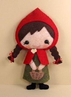 Felt Little Red Riding Hood Doll