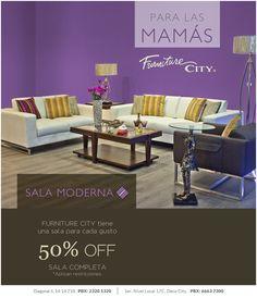 ¡Feliz Mes de la Madre a todas esas personas especiales!  Para las Mamás con gusto moderno, Furniture City tiene una sala especial con el 50% de descuento!!!
