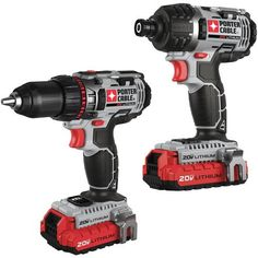 Porter Cable 20V Drill and Impact Driver Combo Kit