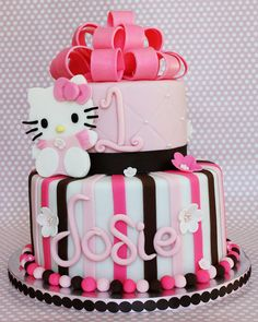 Hello Kitty cake!  Already exploring ideas for Birthday #3.  I have a few themes in mind.