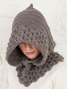 Delicadezas en crochet Gabriela: Paso a paso capucha punto cocodrilo