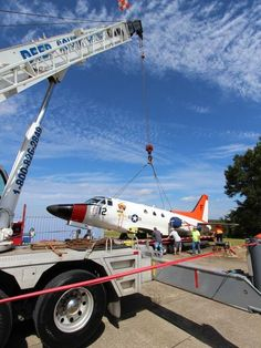 One of the US Navy's last two T-39 Sabreliner planes was loaded onto a truck Oct. 20 and carted off to be the centerpiece of a new civilian aviation maintenance vocational school, which is slated to open in the fall of 2015.  The aircraft — which carries the Navy Bureau number 165520 — will begin its second career at the George Stone Technical Center, a two-year public college in Pensacola, Florida.