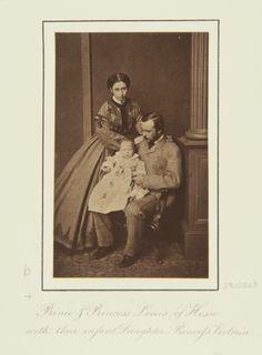 Dec 1863, Darmstadt; Alice, Victoria, and Louis