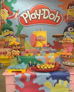 PLAY DOH PARTY Third Birthday, 4th Birthday Parties, Birthday Fun, Play Doh Factory, Play Doh Party, Noah, Festa Party, Art Party, Play Dooh