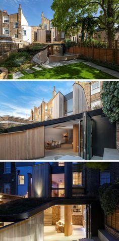 Moderne Britische Häuser Mit Modernen Erweiterungen Barock Architektur,  Entwurf, Haus, Dachverlängerung,