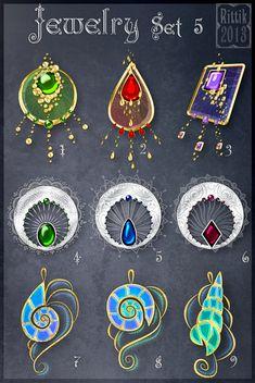 Jewelry Set 5 by Rittik.deviantart.com on @deviantART