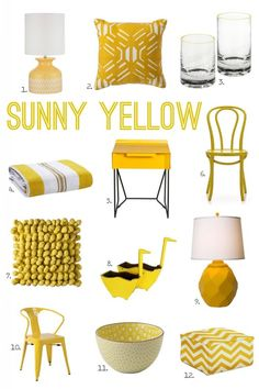 For the Love of Color: Sunny Yellow from @Michael Wurm, Jr. {inspiredbycharm.com}. Get the full post on our Style Spotters blog: http://www.bhg.com/blogs/better-homes-and-gardens-style-blog/2014/03/31/for-the-love-of-color-sunny-yellow/
