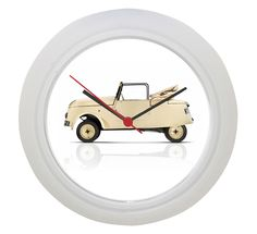 White Wall Clock (Plastic) Diameter: / Depth: / Weight: / Requires an AA Battery (Not Supplied) White Wall Clocks, White Walls, Peugeot, Home Decor, Off White Walls, Decoration Home, Room Decor, Home Interior Design, Home Decoration